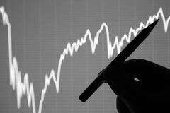 A análise da carta dos dados na exposição Imagem de Stock