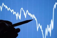 A análise da carta dos dados na exposição Imagem de Stock Royalty Free