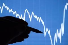 A análise da carta dos dados na exposição Fotografia de Stock