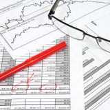 Análise da finança Fotografia de Stock