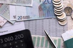 Análise das previsões de indicadores econômicos imagem de stock royalty free