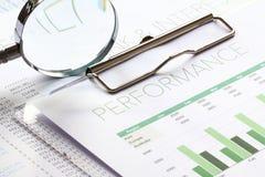 Análise de desempenho empresarial Fotografia de Stock Royalty Free