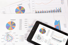 Análise de desempenho empresarial Fotos de Stock
