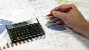 Análise de gráficos dos dados Imagem de Stock