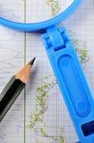 Análise de investimento conservado em estoque Fotos de Stock Royalty Free