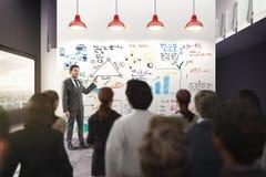 Análise de negócio em um escritório rendição 3d Fotos de Stock Royalty Free