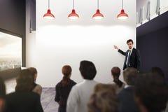 Análise de negócio em um escritório rendição 3d Fotografia de Stock Royalty Free