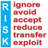 Análise de risco ilustração stock