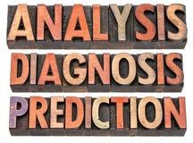 Análise, diagnóstico e previsão Imagens de Stock Royalty Free