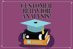 Análise do comportamento do cliente da exibição do sinal do texto Comportamento de compra conceptual da foto dos consumidores que ilustração stock
