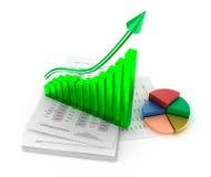 Análise do gráfico de negócio Imagens de Stock Royalty Free