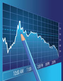 Análise do mercado de valores de acção Fotografia de Stock