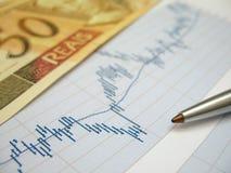 Análise do mercado de valores de acção Fotos de Stock