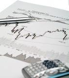 Análise do mercado de valores de acção Imagem de Stock