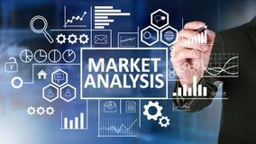 Análise do mercado no conceito do negócio imagens de stock