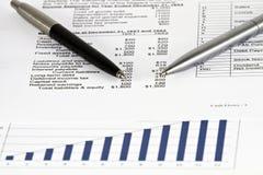 Análise dos dados comerciais Foto de Stock