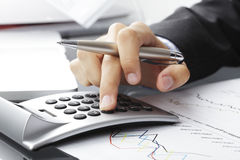 Análise dos dados financeiros foto de stock royalty free