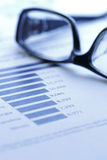 Análise dos dados financeiros Fotos de Stock