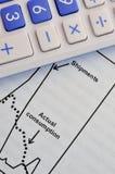 Análise e cálculo de operação Fotografia de Stock Royalty Free