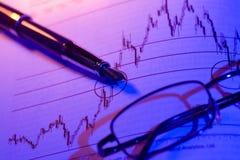 Análise financeira da carta Imagens de Stock Royalty Free