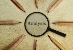 análisis Foto de archivo