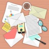 Análisis de concepto de la correspondencia en la tabla Fotografía de archivo