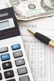 Análisis de datos de la bolsa, financiero Imagen de archivo libre de regalías