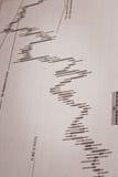 Análisis de datos financieros Fotografía de archivo libre de regalías