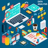 Análisis de datos isométrico libre illustration