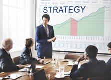 Análisis de la estrategia que planea concepto del éxito empresarial de Vision fotografía de archivo libre de regalías