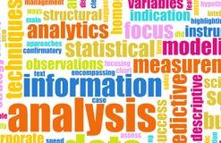 Análisis de la información Imagen de archivo