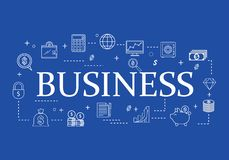 Análisis de la línea plana sistema del negocio del icono stock de ilustración