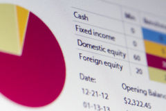 Análisis de las finanzas Fotos de archivo