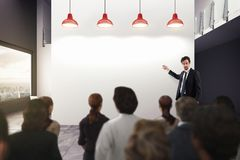 Análisis de negocio en una oficina representación 3d fotografía de archivo libre de regalías