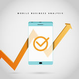 Análisis de negocio móvil Fotos de archivo