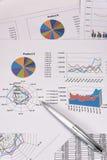 Análisis de rendimiento empresarial Foto de archivo