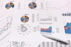 Análisis de rendimiento empresarial Imagenes de archivo
