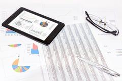 Análisis de rendimiento empresarial Imagen de archivo
