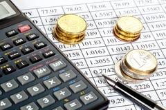 Análisis de riesgos financieros Imágenes de archivo libres de regalías