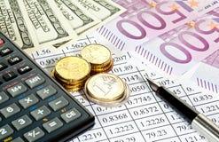 Análisis de riesgos financieros Foto de archivo libre de regalías