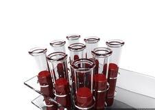 análisis de sangre 3d Fotos de archivo libres de regalías