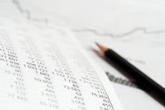 Análisis del índice de precios. foto de archivo