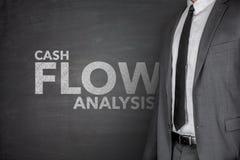 Análisis del flujo de liquidez en la pizarra Fotografía de archivo libre de regalías