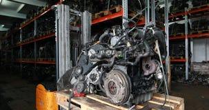 Análisis del motor de coche almacen de metraje de vídeo