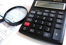 Análisis financiero Foto de archivo libre de regalías