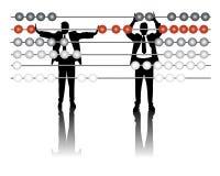 Análisis financiero stock de ilustración