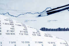 Análisis financiero. Fotografía de archivo