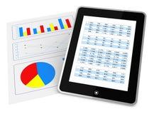 Análisis financiero moderno Fotografía de archivo