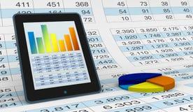 Análisis financiero moderno Imágenes de archivo libres de regalías