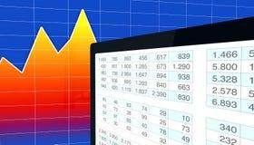 Análisis financiero moderno Imagen de archivo